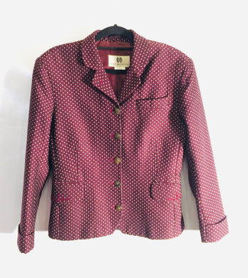 Unique DRIES VAN NOTEN burgundy dotted jacket. Size M