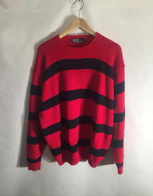 RALPH LAUREN POLO heavy cotton jumper. Size XL