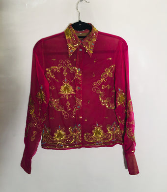 PAUL SMITH sparkly party shirt. Size 10 - 12