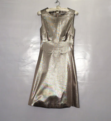KAREN MILLEN shimmery cotton blend discreet-dressy shift. Size 6