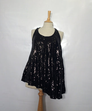 Dressy asymmetrical PIERRE BALMAIN tunic/long top. Size 8-10