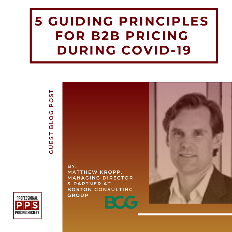 Five Guiding Principles For B2B Pricing During COVID-19