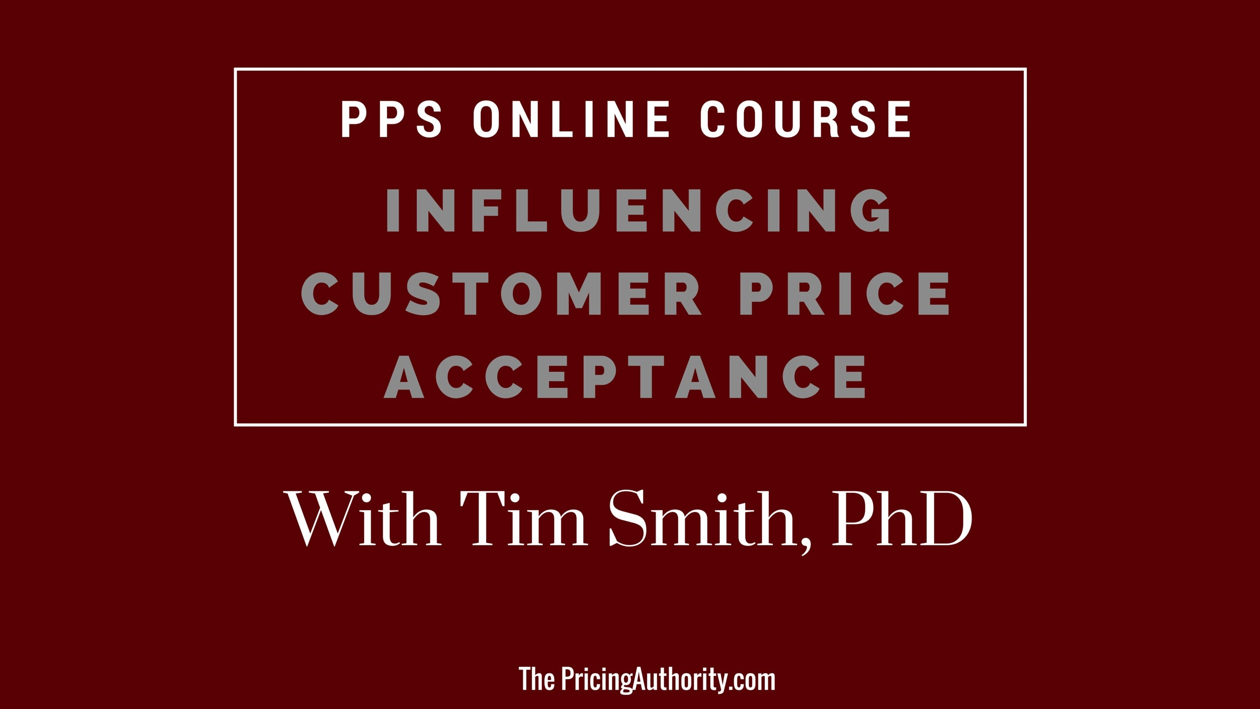 PPS online course - Tim Smith