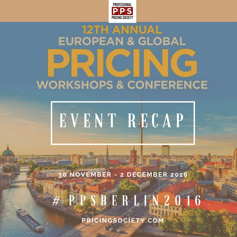 The European Pricing Workshops and Conference RECAP 2016