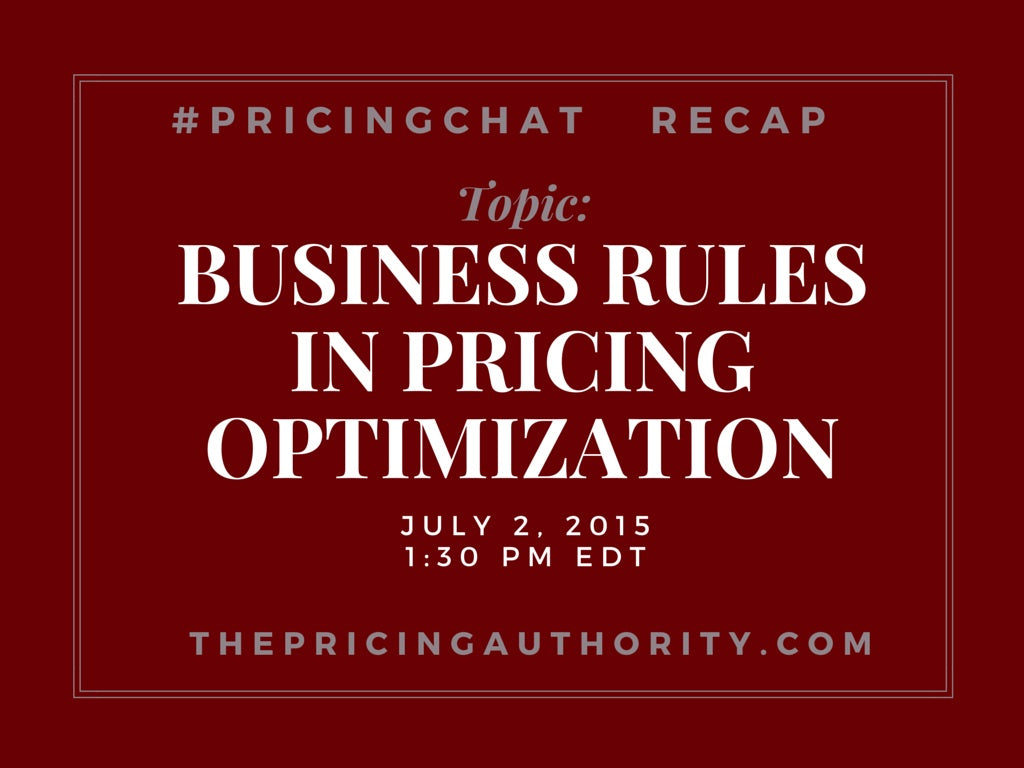 Pricing Chat Recap 7.2.15