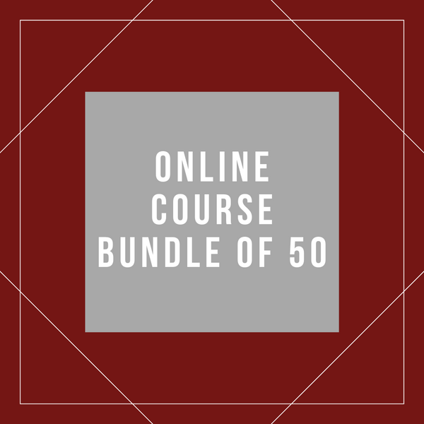 Online Course Bundle of 50