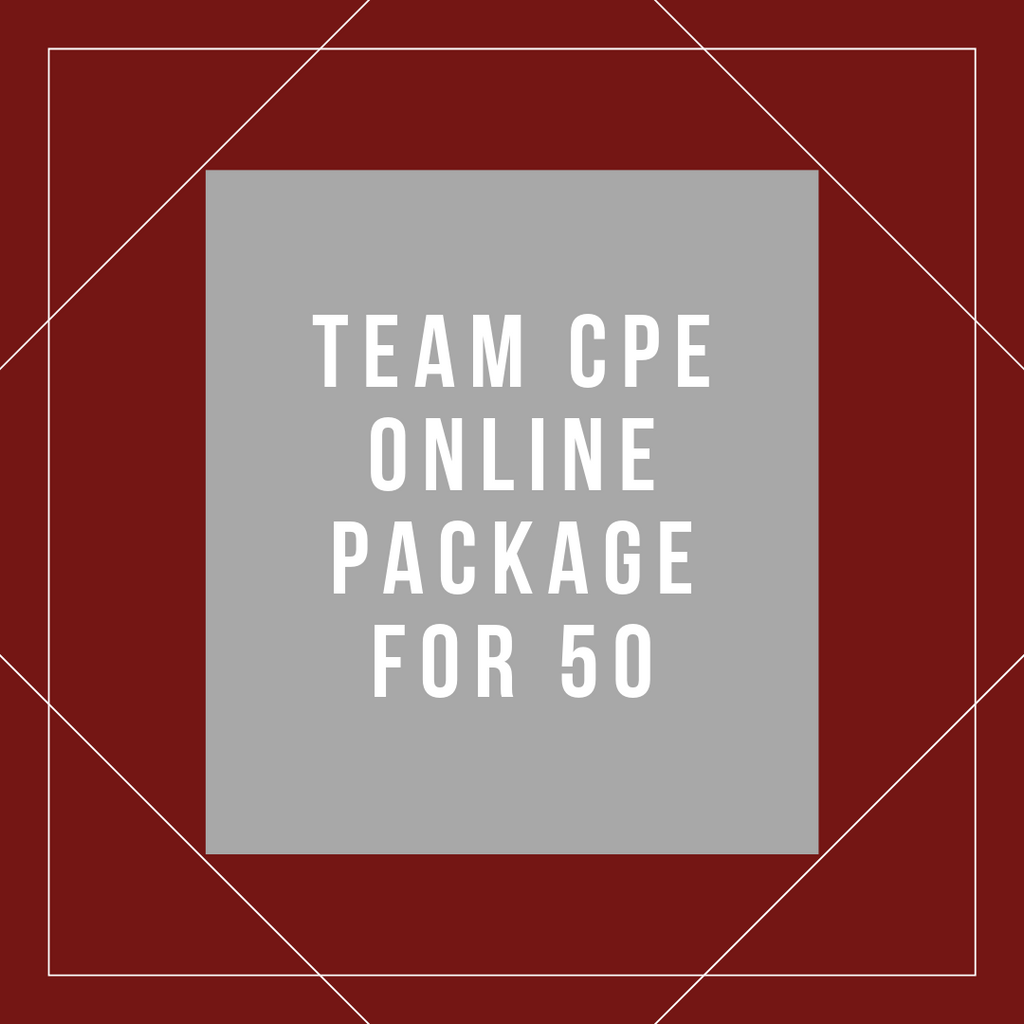Team Online CPE Package for 50