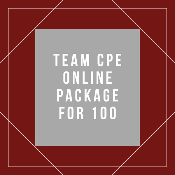 Team Online CPE Package for 100
