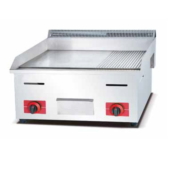 Gas Griddle with ribbed lines