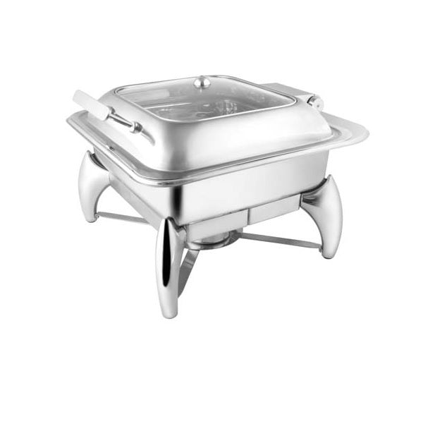 Square Glass Lid Chafer W/ Smart Legs