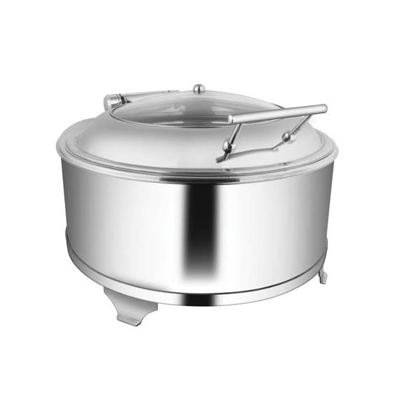 Round Glass Lid Chafer W/Fuel Frame
