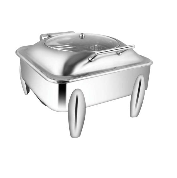 Square Glass Lid Chafer W/Curved Legs