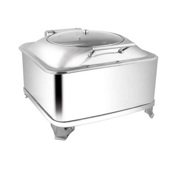 Square Glass Lid Chafer W/Fuel Frame