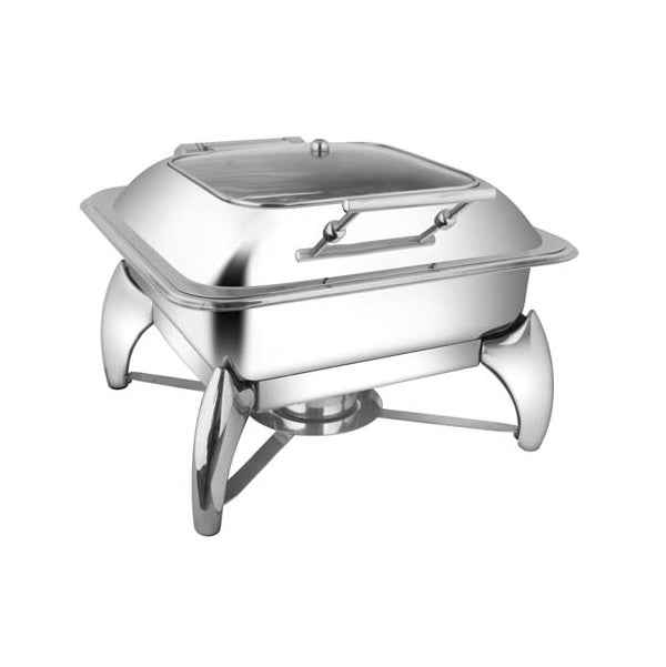 Square Sq.Glass Lid Chafer W/Smart Legs