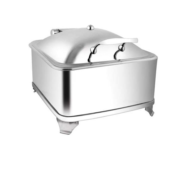 Square SS. Lid Chafer W/Fuel Frame