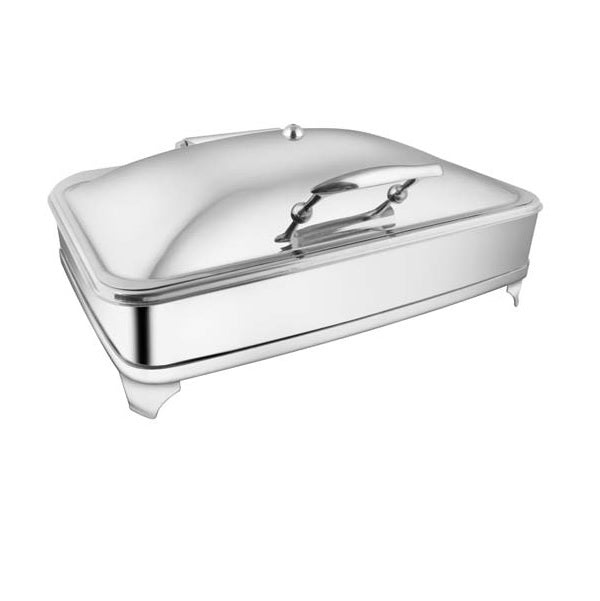 Rectangular Glass Lid Chafer W/Curved Legs