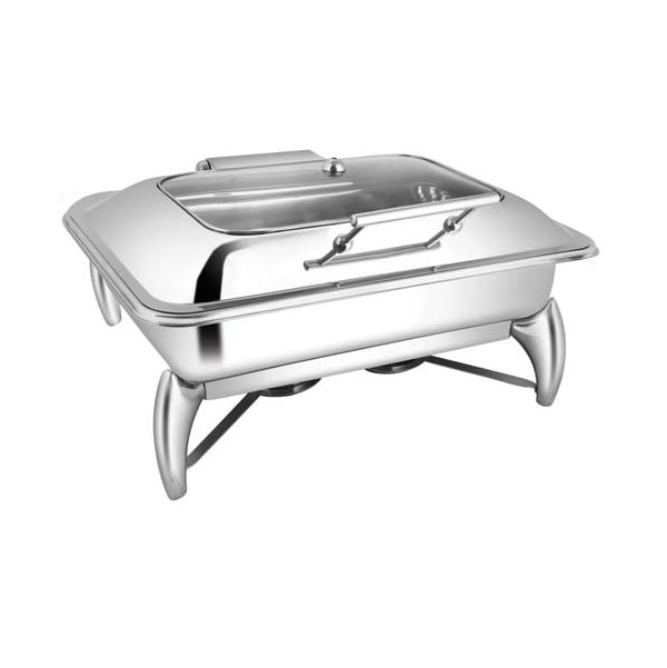 Rectangular Rect. Glass Chafer W/Smart Legs
