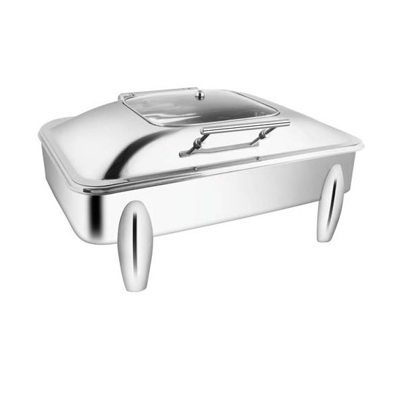 Rectangular Sq.Glass Chafer W/Curved Legs