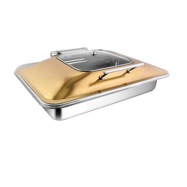 Rectangular Rose Gold Sq.Glass Chafer