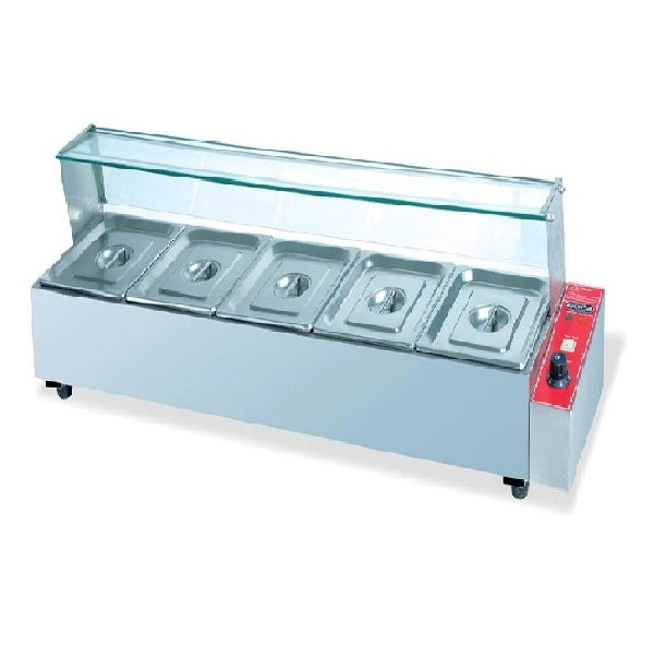 Electric Bain Marie w/ Valve (4 Pan)