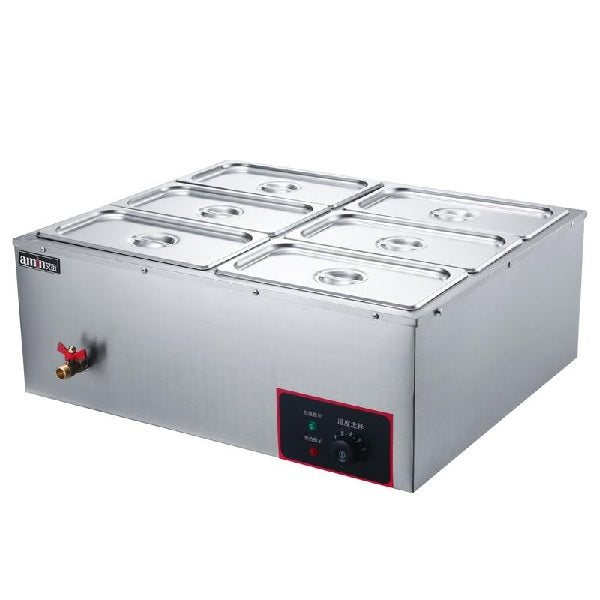 Electric Bain Marie W/ Valve (6 Pan)