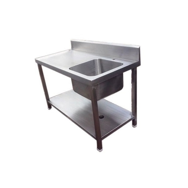 SS Work Table with Single Sink