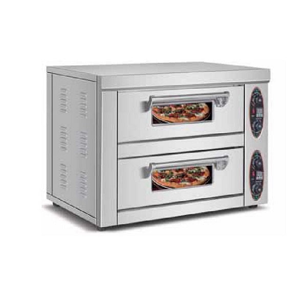 Pizza Oven Double Deck Double Tray