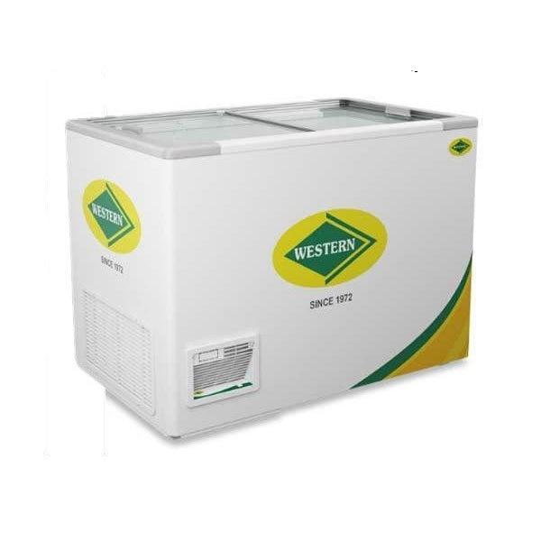 Glass Top Chest Freezer( 440 Litres)