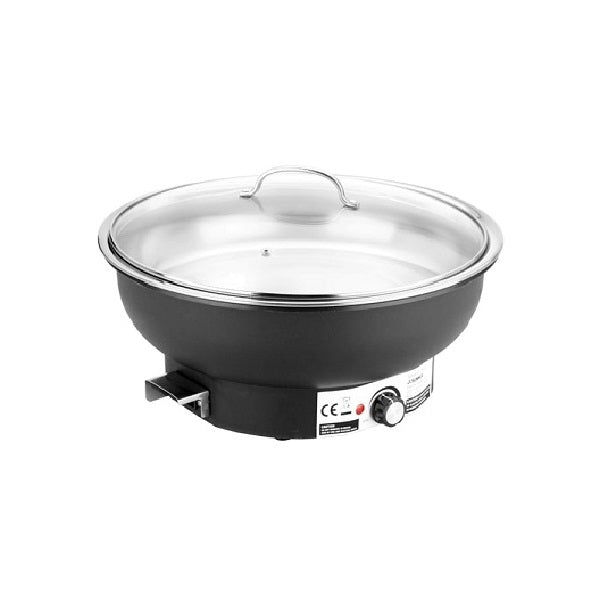 Round Electric Chafer W/ Glass Lid