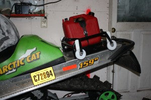 Arctic Cat snowmobile rack and fuel