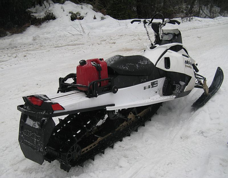 snowmobile rack on ski doo freeride