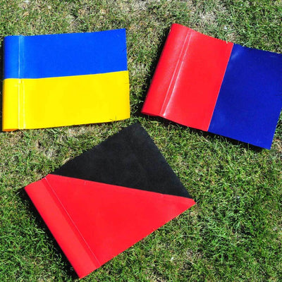 R80 Safety Touchline Pole Full Field Set with 2 Colour PVC Flags