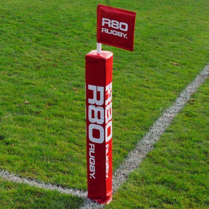 Touchline Flag Pole with Protector & Rigid Flag-R80RugbyWebsite-Speed Power Stability Systems Ltd (R80 Rugby)