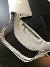 Load image into Gallery viewer, White Smoke Premium Nubuck | XE99 Cross-Body Bag - Bagspace