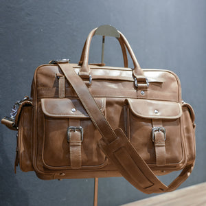 DB91 | Laptop Bag (Premium Light Aniline Leather)