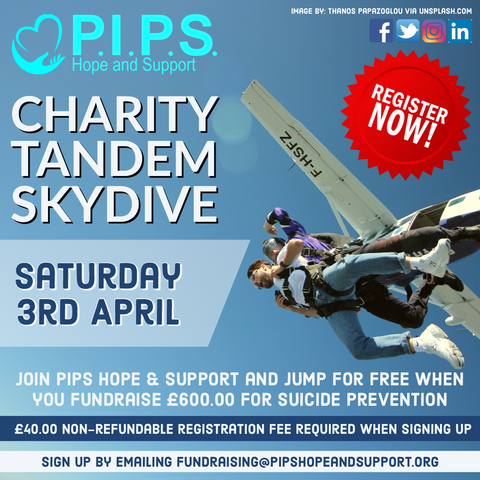 P.I.P.S. Charity Tandem Skydive