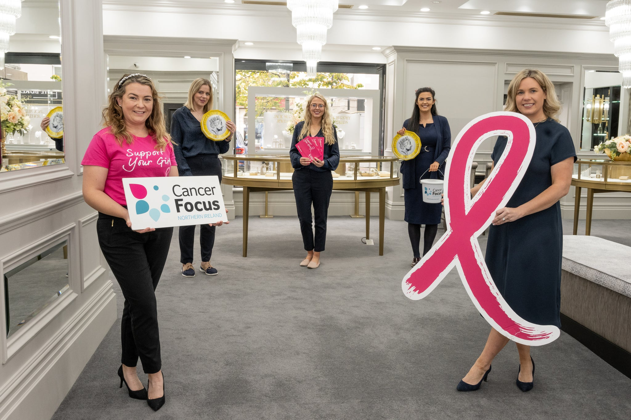 Jack Murphy Jewellers Glittering PINK Partners with Cancer Focus NI