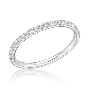 Platinum 0.15ct Fine Claw Set Brilliant Cut Diamond Band