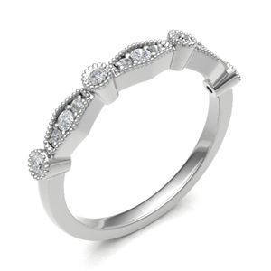 Platinum 0.18ct Fancy Cut Diamond Band
