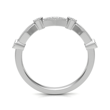 Load image into Gallery viewer, Platinum 0.18ct Fancy Cut Diamond Band