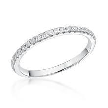 Load image into Gallery viewer, Platinum 0.19ct Claw Set Brilliant Cut Diamond 1.8mm Band
