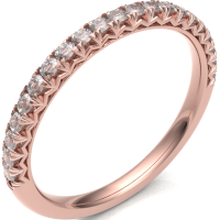 18ct Rose Gold 0.20ct Claw Set Diamond 2.5mm Band