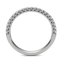 Load image into Gallery viewer, 18ct White Gold 0.20ct Claw Set 2.5mm Band