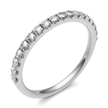 Load image into Gallery viewer, 18ct White Gold 0.27ct Claw Set Brilliant Cut Diamond 2mm Band