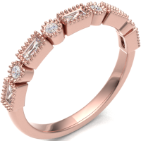 18ct Rose Gold 0.29ct Fancy Cut Diamond Band