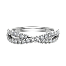 Load image into Gallery viewer, Platinum 0.33ct Crossover Diamond Band