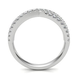 Platinum 0.33ct Crossover Diamond Band