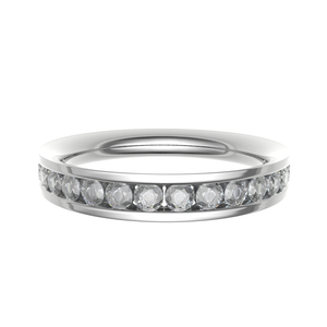 Platinum 0.40ct Brilliant Cut Channel Set Diamond Band