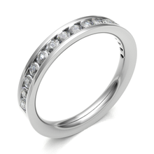 Load image into Gallery viewer, Platinum 0.40ct Brilliant Cut Channel Set Diamond Band