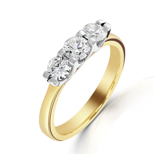 18ct Yellow Gold Three-Stone Diamond Ring